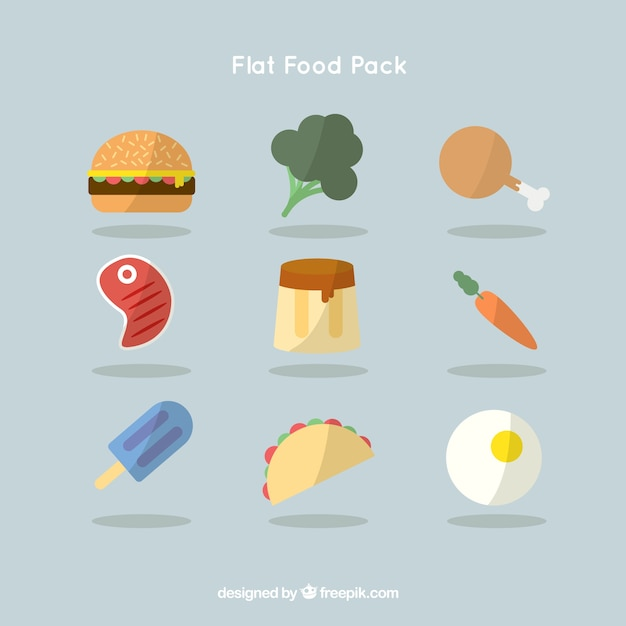 Collection of flat foodstuff