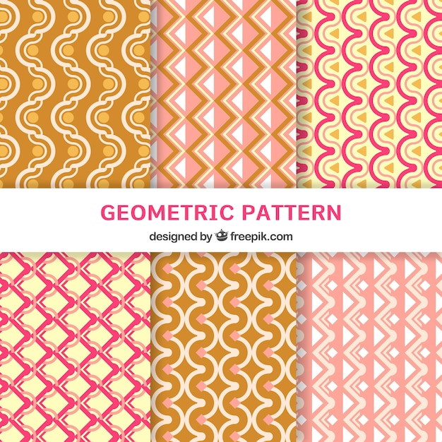Collection of flat patterns with geometric design