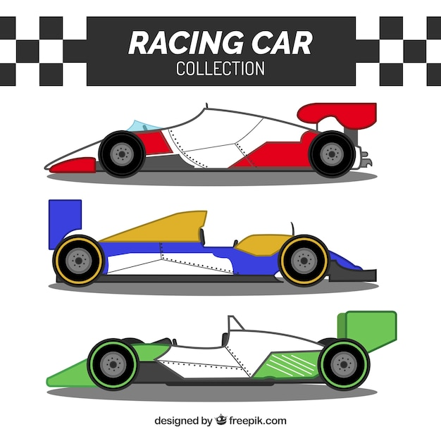 Collection of formula 1 cars