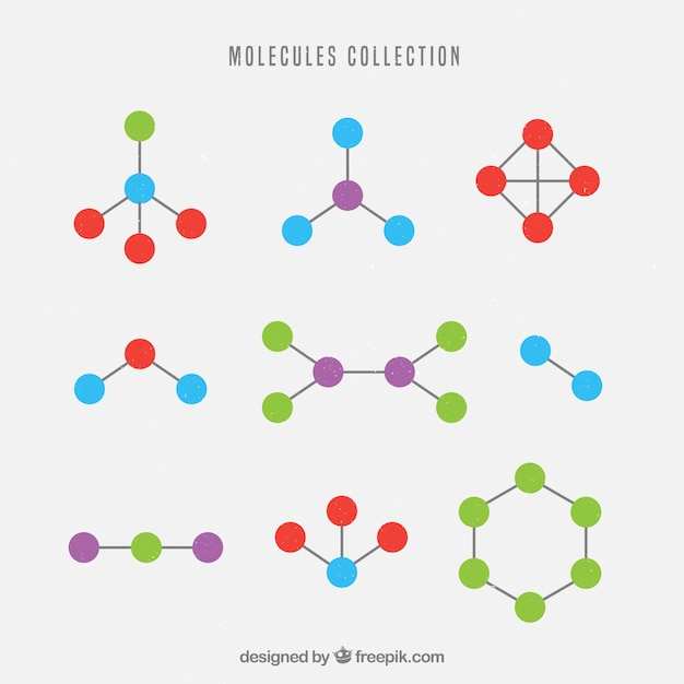 Collection of geometric shapes of molecule