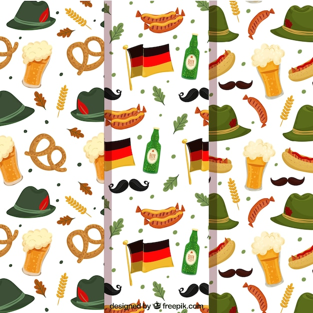 Collection of german traditions patterns