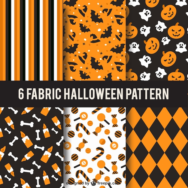 Collection of halloween patterns Vector | Free Download