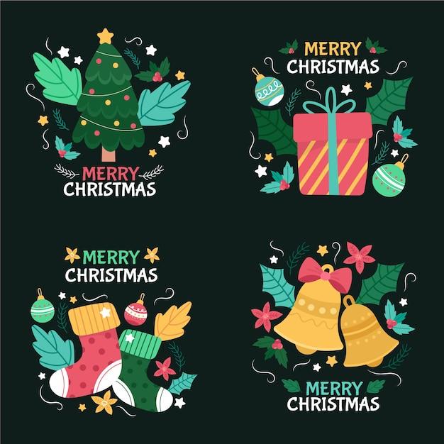 Коллекция рисованной рождественский знак Бесплатные векторы