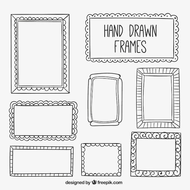 Collection Of Hand Drawn Frame Vector