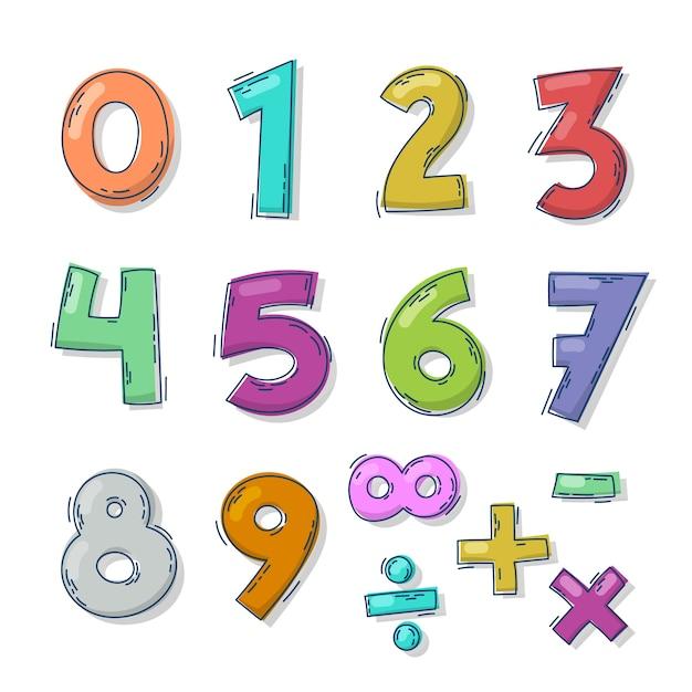 手描きの数学記号のコレクション 無料ベクター