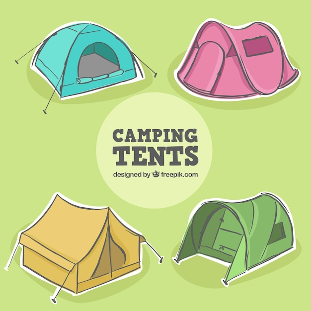 Collection of hand drawn tents