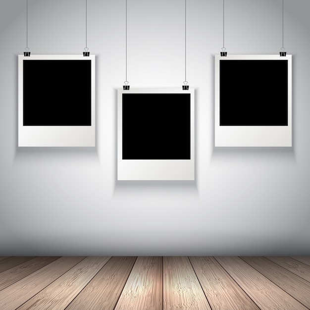 Collection of hanging photo frames Vector | Free Download