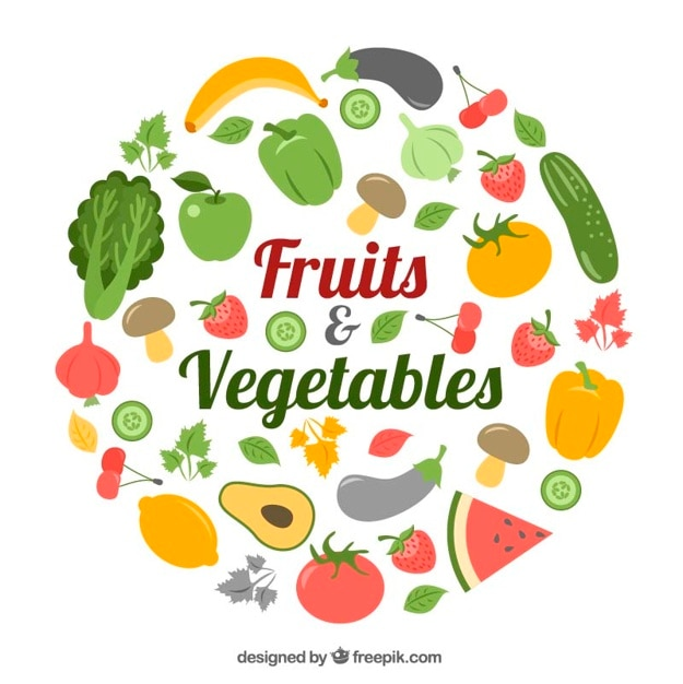Collection Of Healthy Food Vector Free Download