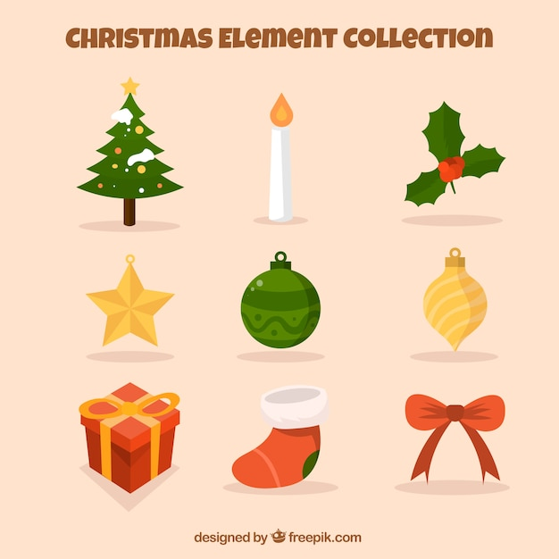 Collection of holiday ornament