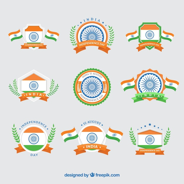 Collection of india independence day vintage insignia