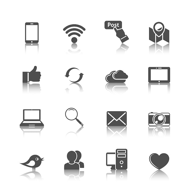 Collection Of Internet Icons Vector Free Download