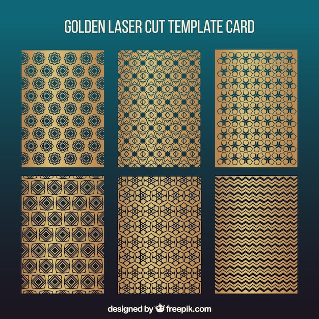 collection of laser cut invitations templates free vector