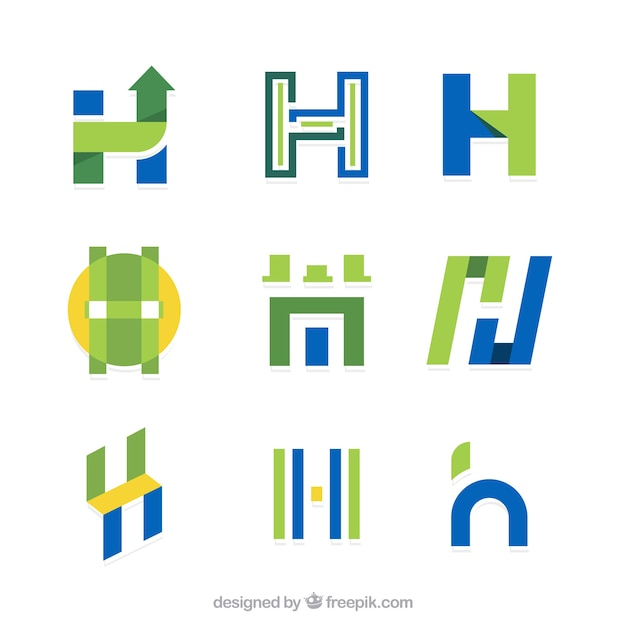 Letter h vectors photos and psd files free download collection of letter h logo in flat design thecheapjerseys Choice Image