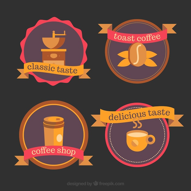 Collection of logos for coffee shops
