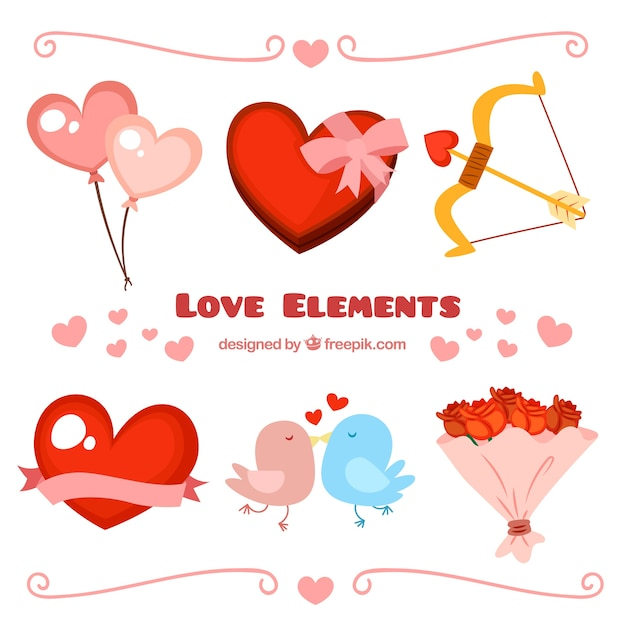 Collection of love elements