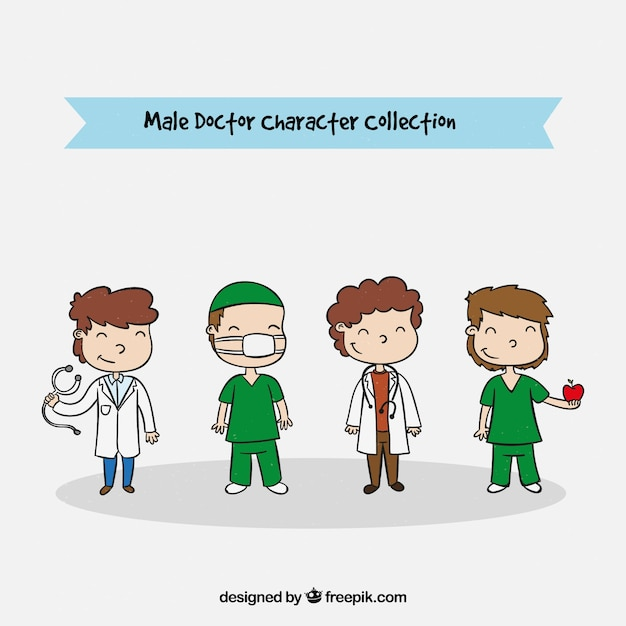 Collection of male medical characters