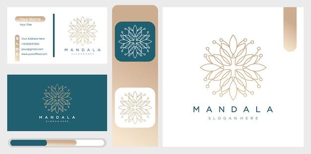 花や葉の装飾模様の曼荼羅のコレクション。 Premiumベクター