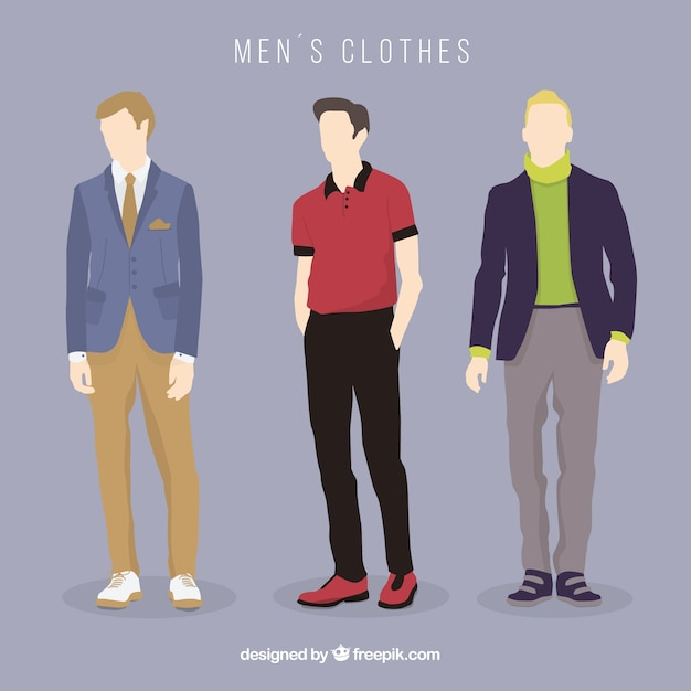 Collection of men\'s clothes