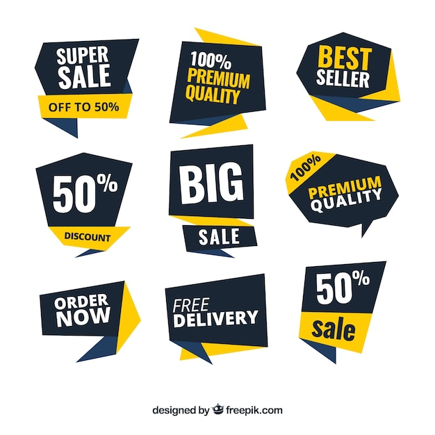 Collection of modern discount sticker