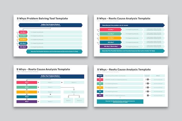 현대 다섯 이유 infographic 컬렉션 무료 벡터