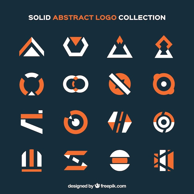 Collection of modern logos in abstract design
