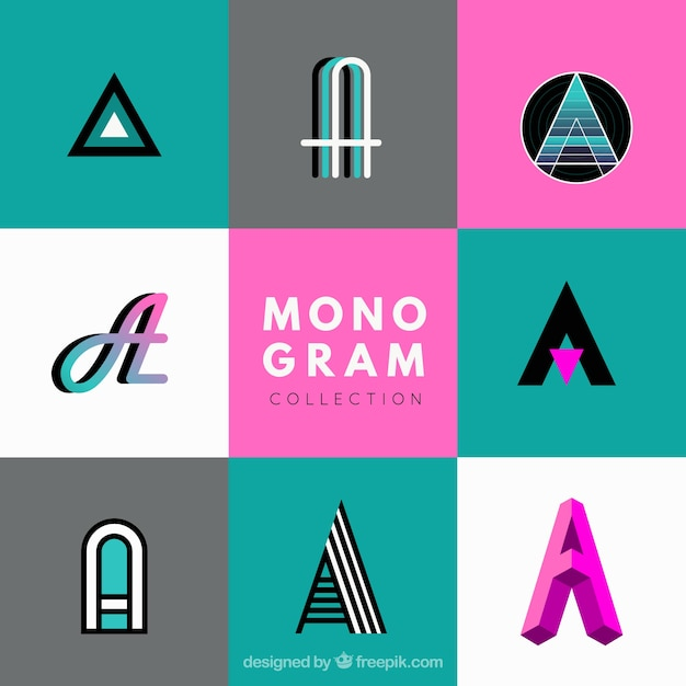 Collection of modern monogram
