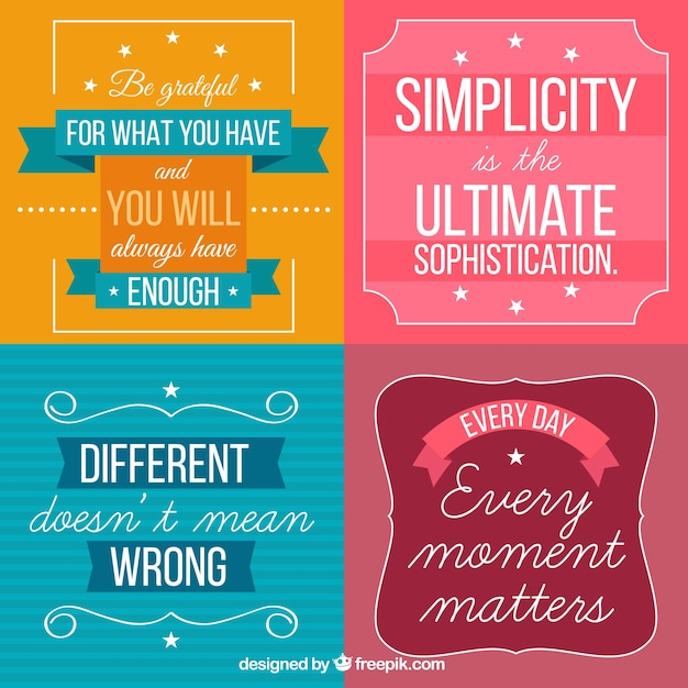 Motivational Phrases Glamorous Collection Of Motivational Phrases In Vintage Style Vector  Free