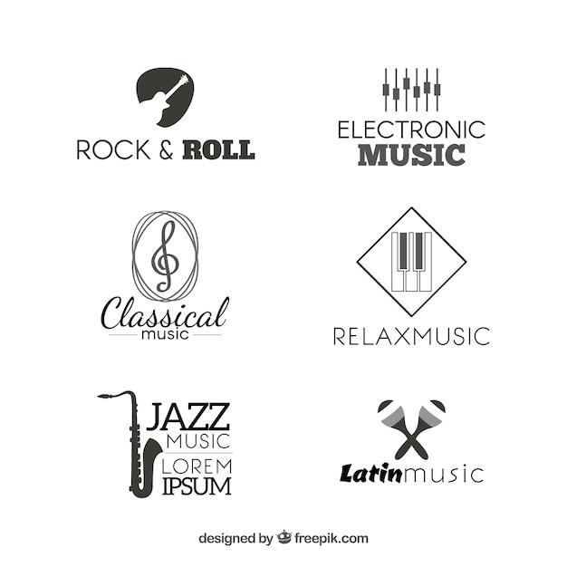 rock band photos ideas - Collection of music logos Vector