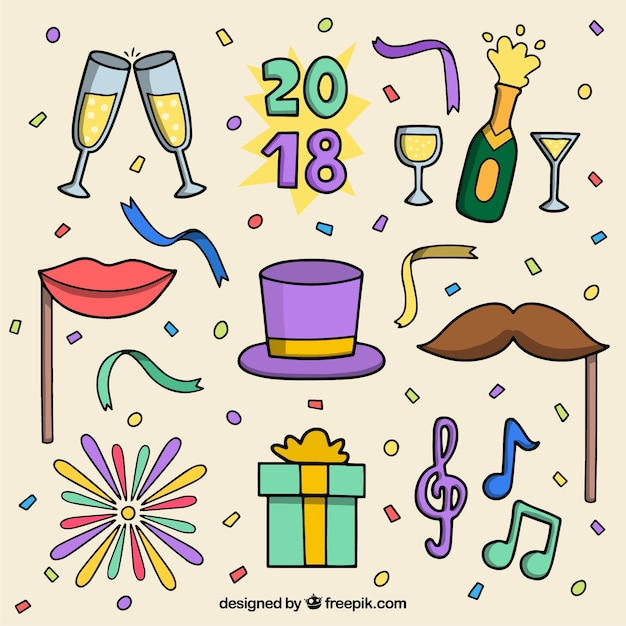 Collection of new year party element
