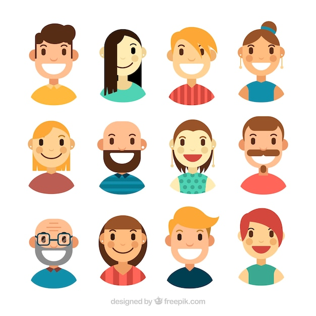 Collection of nice people avatar