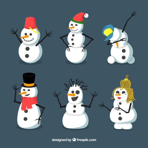 Collection of nice snowman