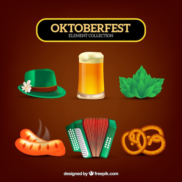 Collection of oktoberfest elements