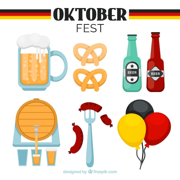 Collection of oktoberfest party elements