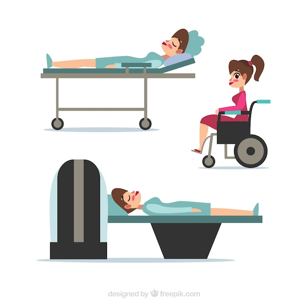Collection of patients Free Vector