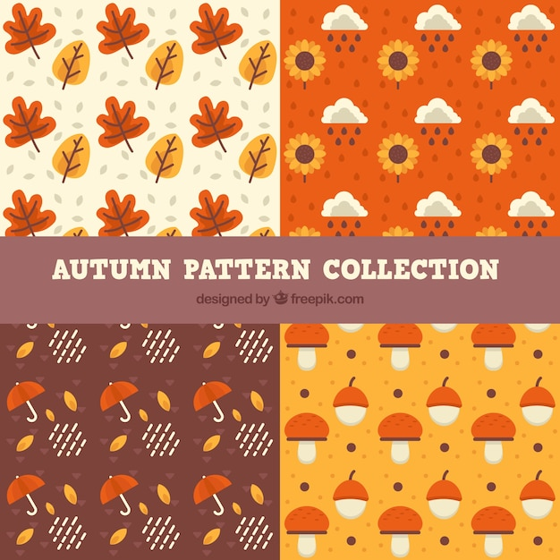 Collection of patterns, autumn