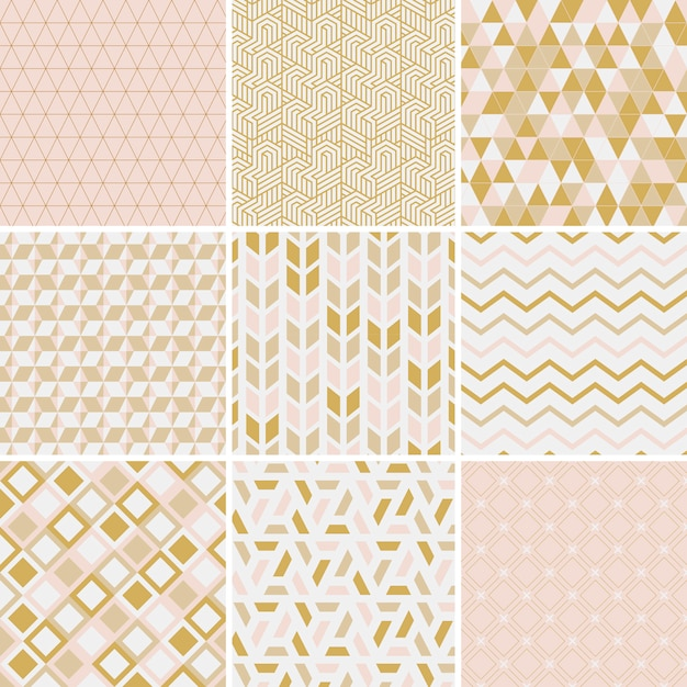 Collection Of Patterns Vector Illustration Vector Free Download