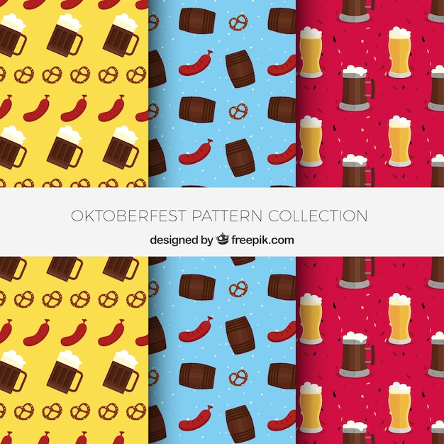 Collection of patterns with german products