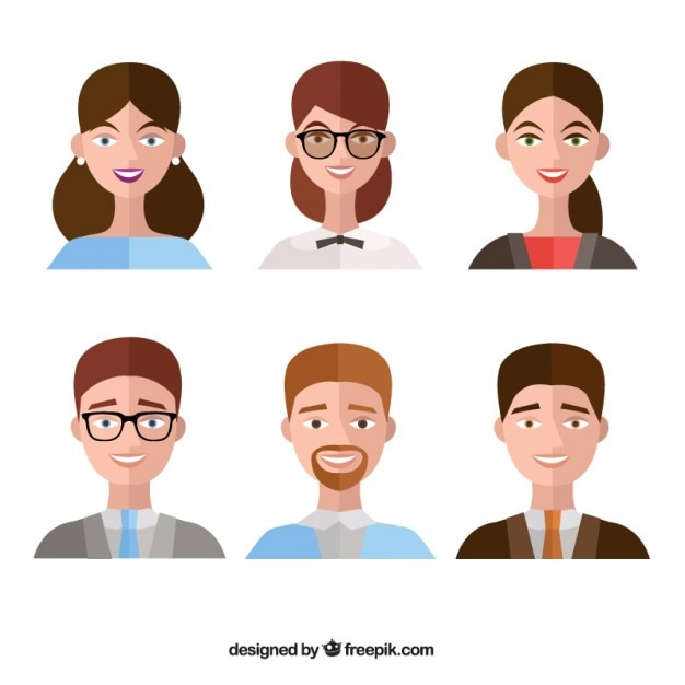 Developer Avatar: Collection Of People Avatar In Flat Design