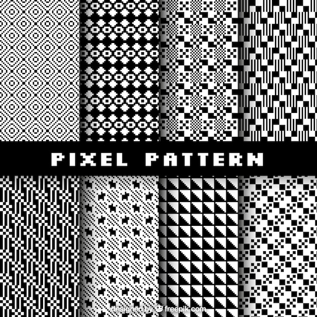 Collection Of Pixel Patterns Vector Free Download Beauteous Pixel Patterns