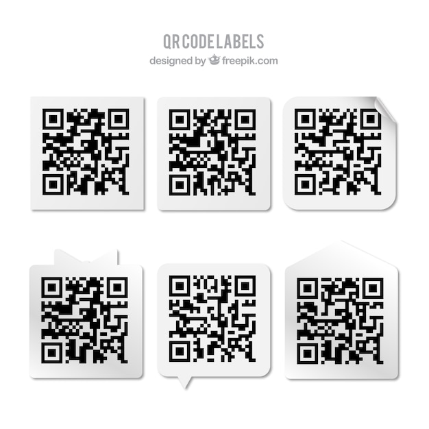 collection of qr code stickers vector free download