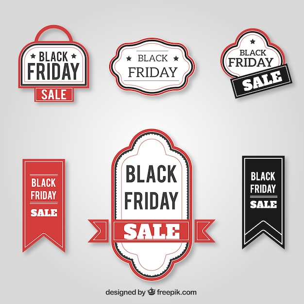 Collection of retro black friday badges