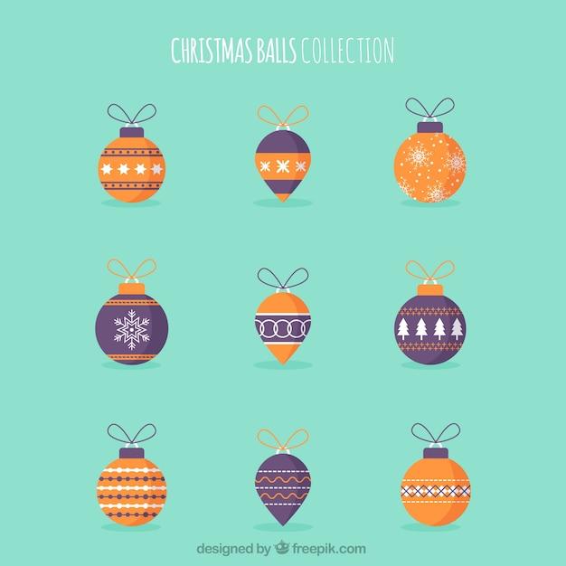 Collection of retro christmas balls