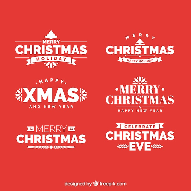 Collection of retro christmas sticker