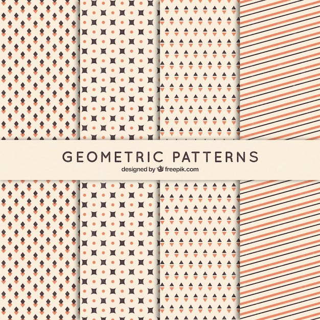 Collection of retro geometric patterns