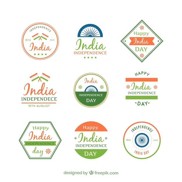 Collection of retro india sticker