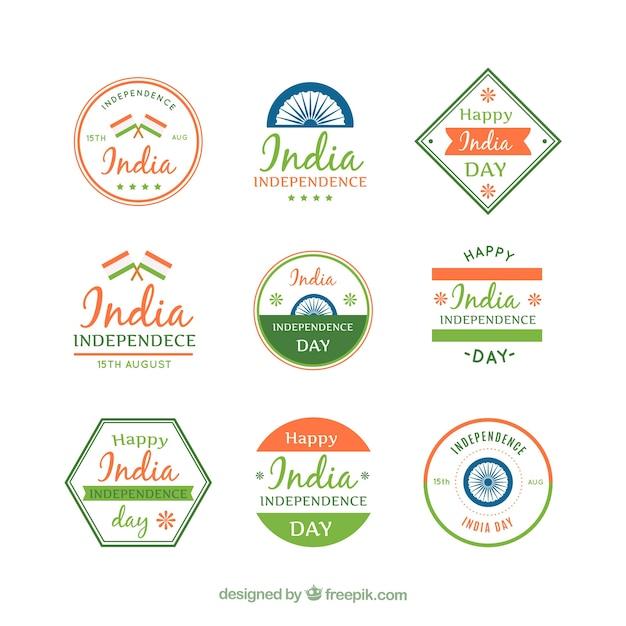 Collection of retro india sticker
