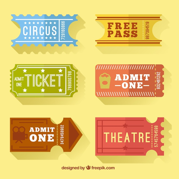 Collection of retro tickets