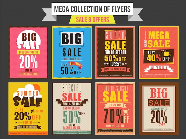 Collection Of Sale And Discount Offer Flyers Templates And