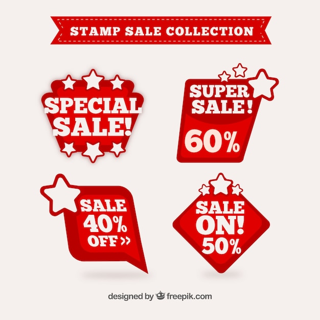 Download Vector - Set of sales stamps with different designs