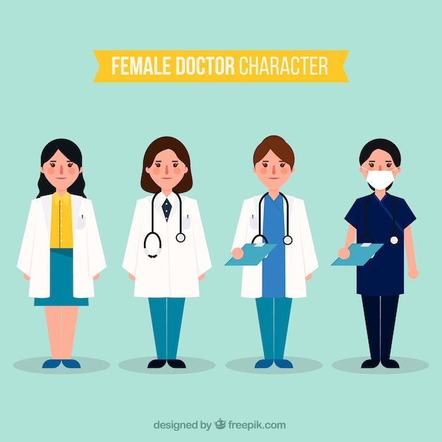 Collection of serious female doctor characters